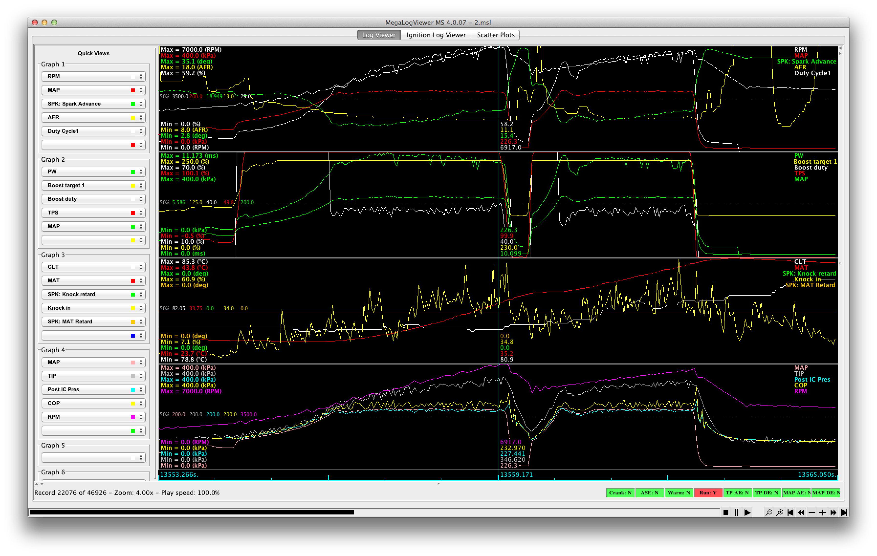 Ians 99 post tb screw re rebuild page 11 miata turbo forum to a couple of spare inputs on the ms3 did a little surgery on the log file to convert the raw voltage output to kpa and got this look at graph 4 nvjuhfo Gallery